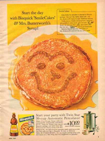Bisquick & Mrs. Butterworth's Syrup – Smile Cakes (1963)