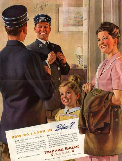 Pennsylvania Railroad – How Do I Look In Blue? (1945)