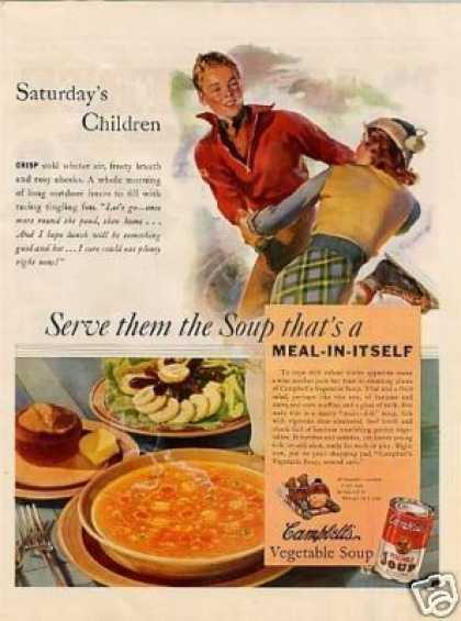 "Campbell's Vegetable Soup Ad ""Saturday's Children (1938)"