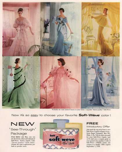 Scott Paper Company's Soft-Weve – Now it's so easy to choose your favorite Soft-Weve color (1958)