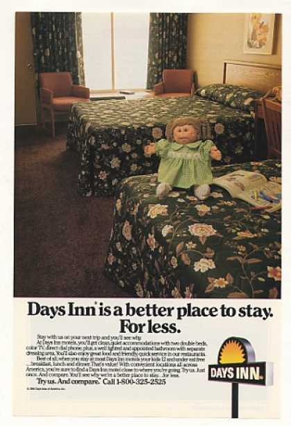 Days Inn Motel Cabbage Patch Doll on Bed Photo (1984)