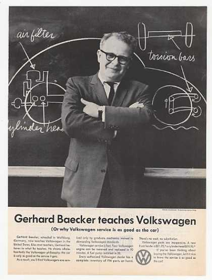 Gerhard Baecker Teaches Volkswagen VW Mechanics (1959)