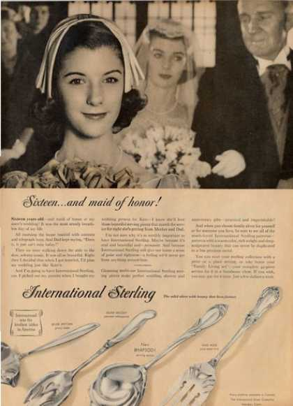 '57 International Sterling Silver Rhapsody Ad T (1957)