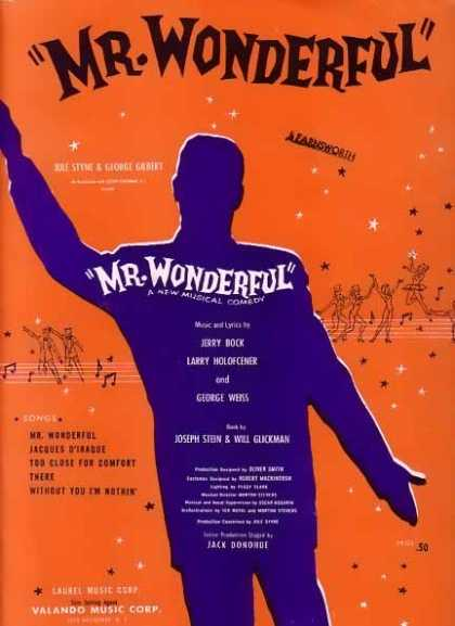 Mr. Wonderful Movie Sheet Music (1956)