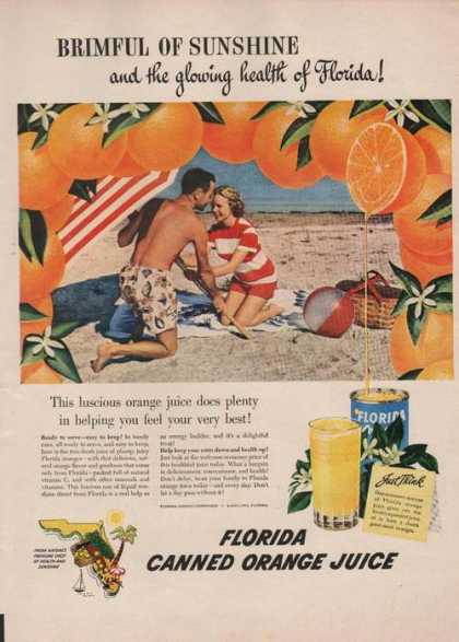 Florida Canned Orange Juice (1949)