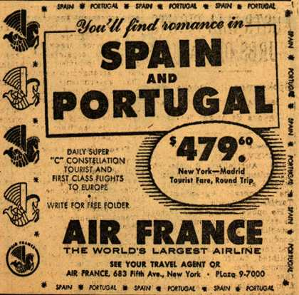 Air France's Spain and Portugal – You'll find romance in Spain and Portugal (1954)