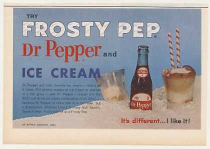 Dr Pepper and Ice Cream Frosty Pep (1963)