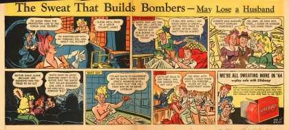 Lever Brothers Company's Lifebuoy Health Soap – The Sweat That Builds Bombers – May Lose a Husband (1944)