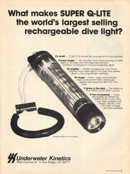 Underwater Kinetics Dive Light Q Lite Ad T (1979)
