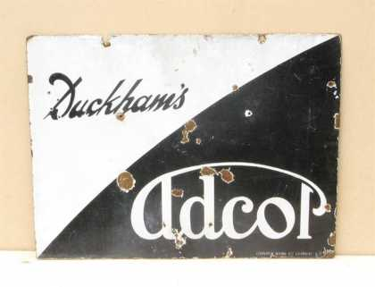 Duckhams Adcol Motor Oil Sign
