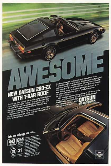 Datsun 280-ZX with T-Bar Roof Awesome Photo (1980)