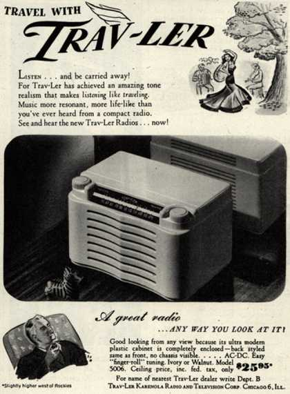 Trav-Ler Radio Corporation's Radio – Travel With Trav-Ler (1946)