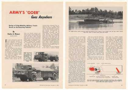 US Army GOER Trucks 3-Page Photo Article (1959)