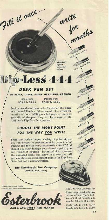 Esterbrook Desk Pen Set (1950)