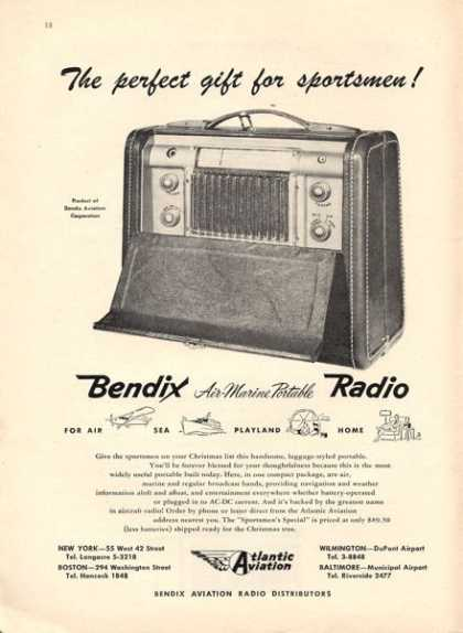 Atlantic Aviation Bendix Portable Radio (1947)