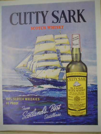 Cutty Sark blended Scots Whiskey From Scotland's best (1961)