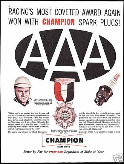 Champion Spark Plugs Chuck Stevenson Race Car (1953)