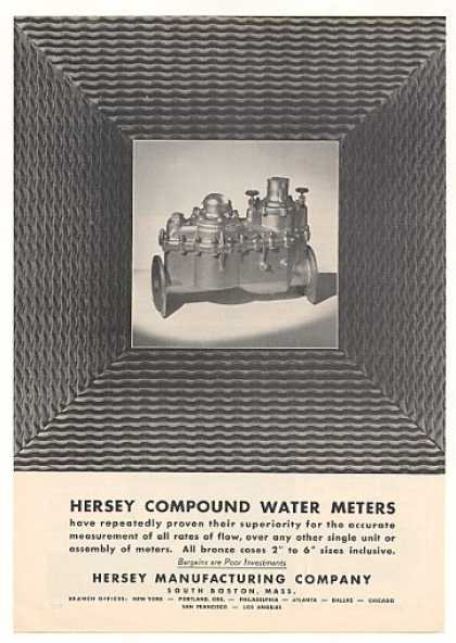 Hersey Compound Water Meter Photo (1955)