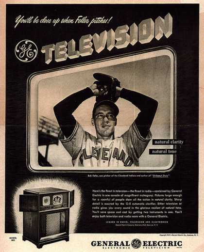 General Electric Company's Television – You'll be close up when Feller pitches! GE Television (1947)
