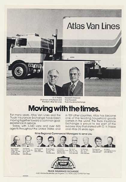 Atlas Van Lines Truck Farmers Insurance Group (1974)