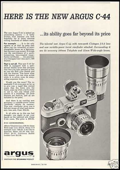 Argus C44 C-44 Camera Lenses Photo (1958)