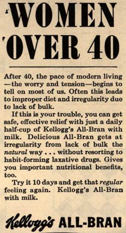 Kellogg's Co.'s Kellogg's All-Bran – Women Over 40 (1958)