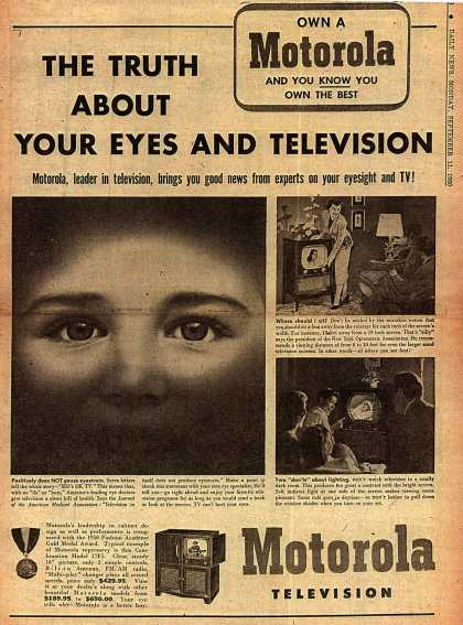 Motorola's Television – The Truth About Your Eyes And Television (1950)