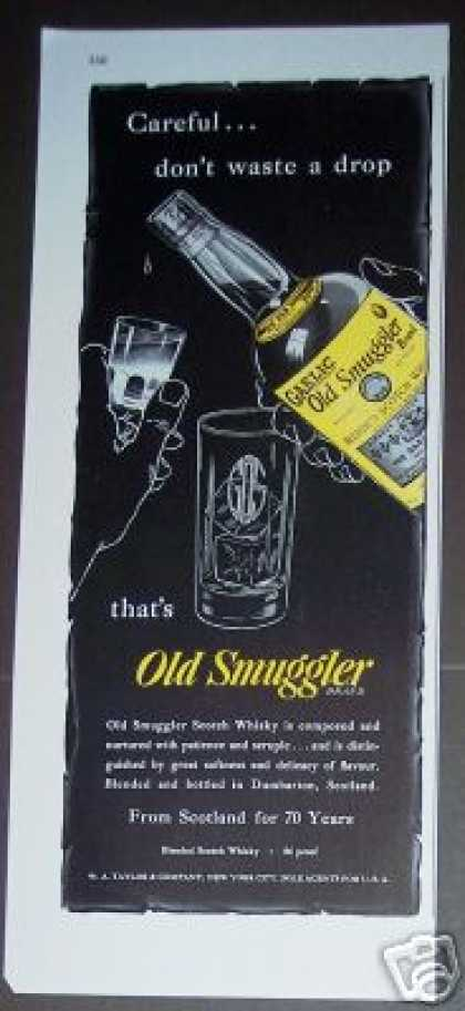 Gaelic Old Smuggler Scotch Whisky (1947)