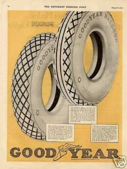 Goodyear Tire Ad 2 Page (1925)