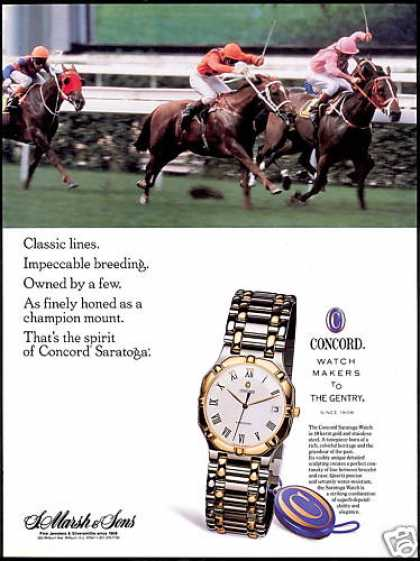 Concord Watch Saratoga Horse Race Track (1991)
