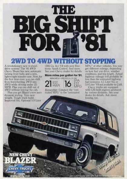 Chevrolet Chevy Blazer Big Shift Photo (1981)