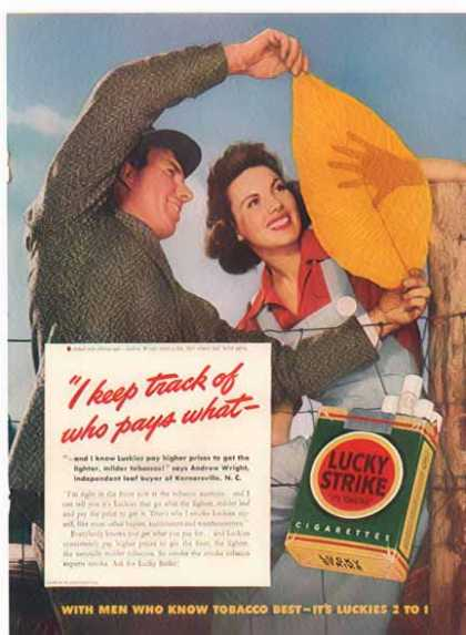 Lucky Strikes Cigarette – Tobacco Leaf (1941)