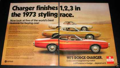 Dodge Charger, 1973, 3 Models, Exc (1972)