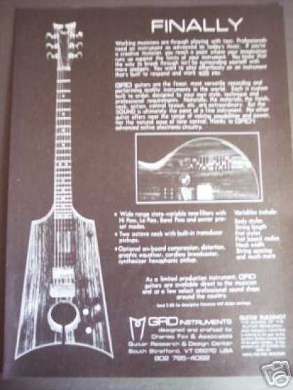 Grd Instuments Guitar Design (1978)