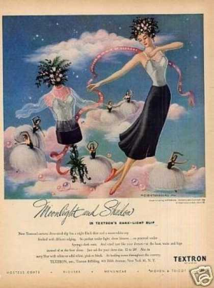"Textron Slip Ad ""Moonlight and Shadow... (1948)"