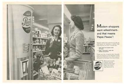 Pepsi-Cola Paper Cup Vending Machine 2-Pg Trade (1958)