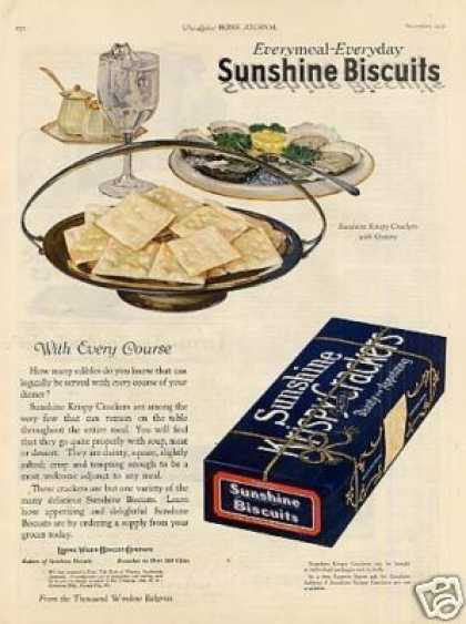 Sunshine Krispy Crackers Color (1921)