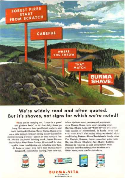 Burma Shave (1963)