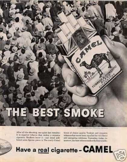 Camel Cigarettes Ad 2 Page (1959)