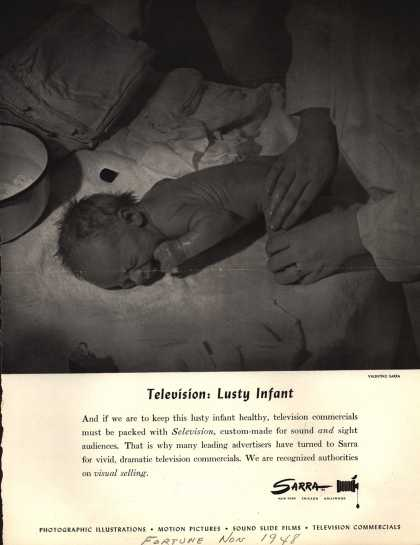 Sarra's Television – Television: Lusty Infant (1948)