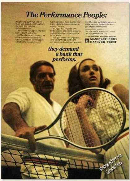 Manufacturers Hanover Trust Tennis Theme (1970)