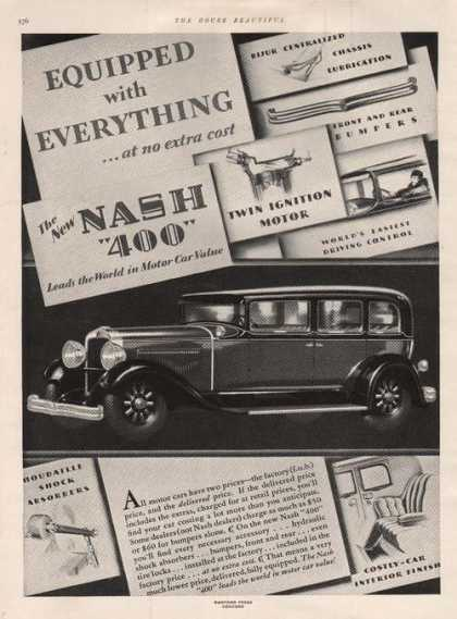 Equipped With Everything Nash 400 Car (1929)