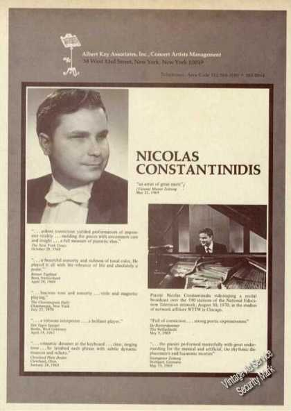 Nicolas Constantinidis Photo Piano Rare (1971)