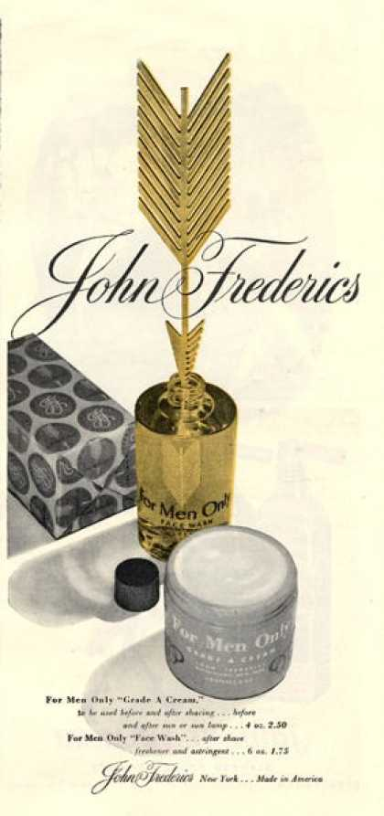John Frederics Men Face Wash Cream Bottle (1946)
