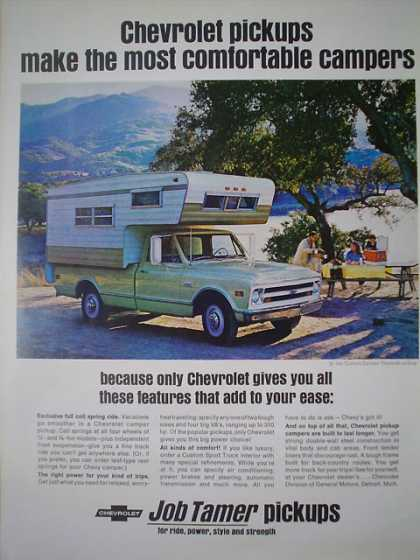 Chevy Chevrolet Job Tamer Best Camper pickup (1968)