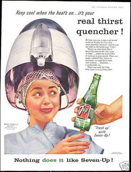 Beauty Parlor Hairdryer 7up 7-up Seven up (1956)