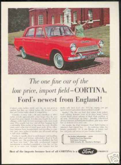 Cortina English Ford Line 4 Dr Photo (1963)