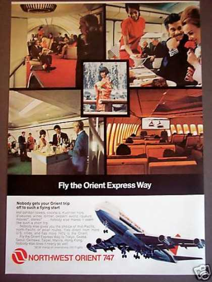 Northwest Airline 747 Orient Express Photo (1971)
