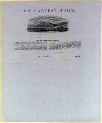 Charles Wright's The Harvest Home (farm/ homestead) – The Harvest Home (1859)