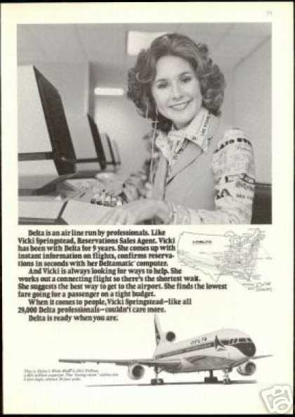 Delta Airlines Vicki Springstead Reservations (1977)